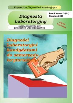 Diagnosta Laboratoryjny - Rok 4, Numer 3 (11) - sierpień 2006 r.