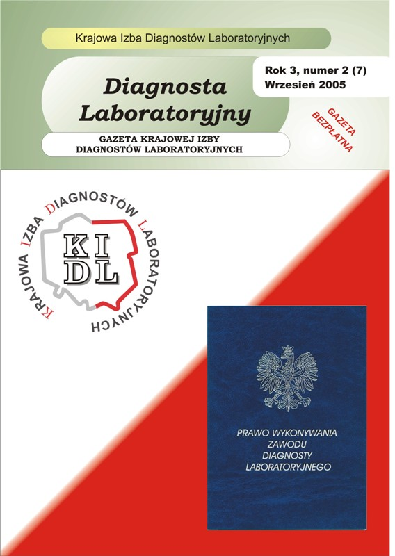 Diagnosta Laboratoryjny - Rok 3, Numer 2 (7) - wrzesień 2005 r.