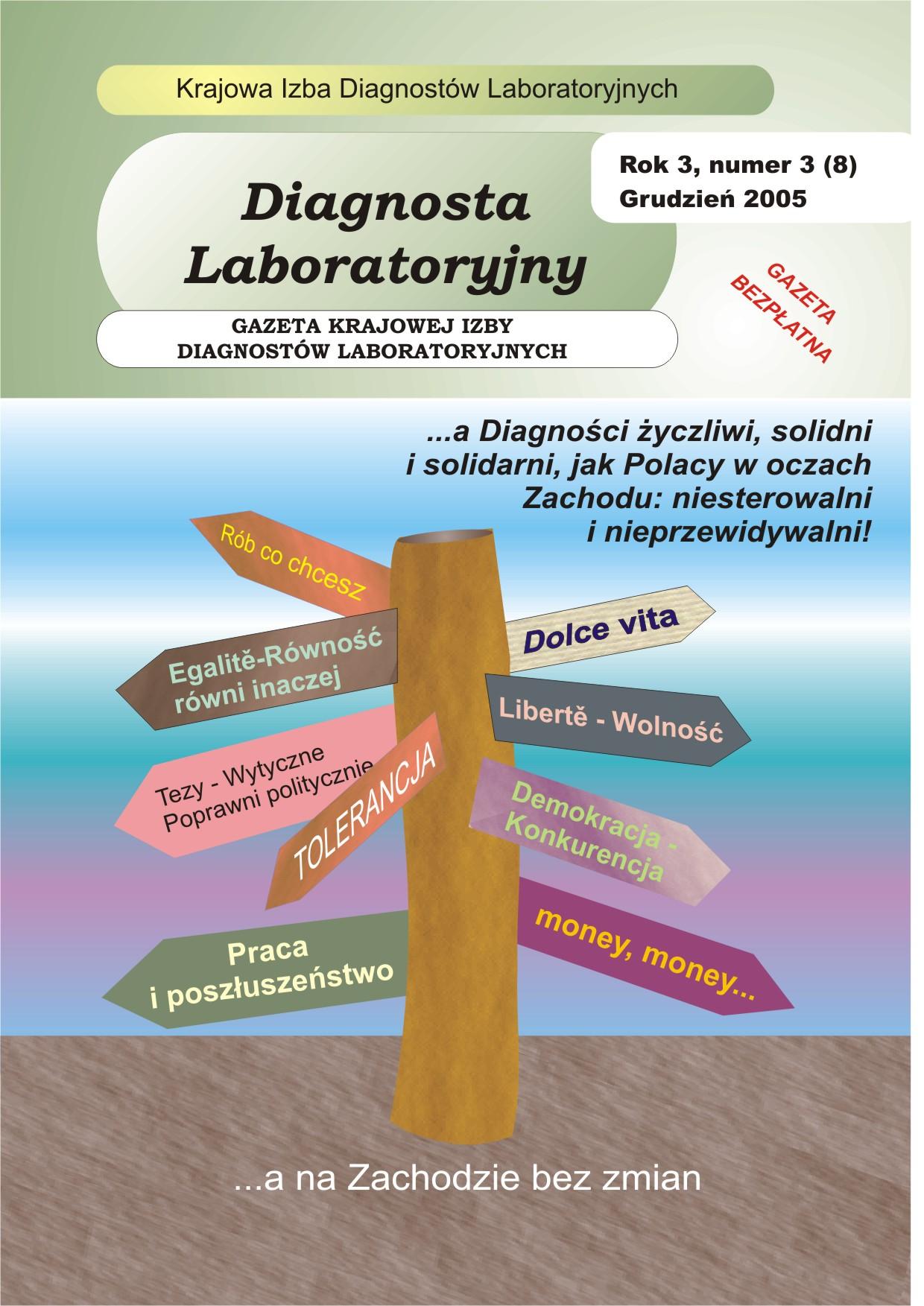 Diagnosta Laboratoryjny - Rok 3, Numer 3 (8) - grudzień 2005 r.