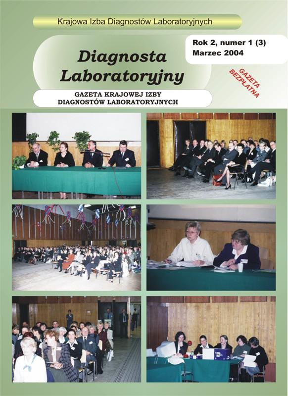 Diagnosta Laboratoryjny - Rok 2, Numer 1 (3) - marzec 2004 r.