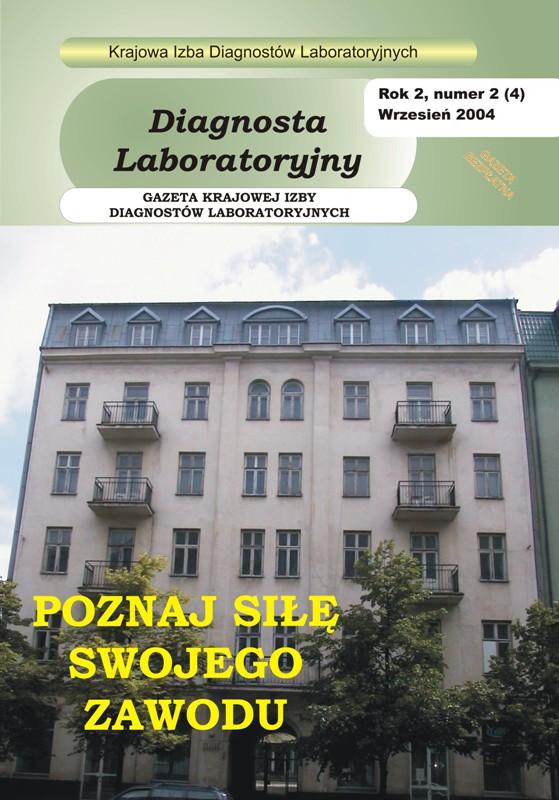 Diagnosta Laboratoryjny - Rok 2, Numer 2 (4) - wrzesień 2004 r.