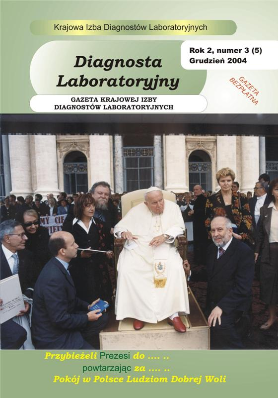 Diagnosta Laboratoryjny - Rok 2, Numer 3 (5) - grudzień 2004 r.