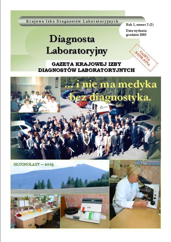 Diagnosta Laboratoryjny - Rok 1, Numer 2 (2) - grudzień 2003 r.