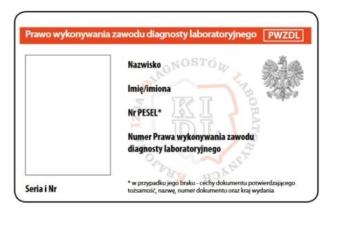 Krajowa Rada Diagnostów Laboratoryjnych w związku w wejściem w życie nowych przepisów obligujących do wprowadzenia nowego Prawa Wykonywania Zawodu Diagnosty Laboratoryjnego postanowiła w dniu 13 września 2019 r. o zatwierdzeniu projektu wzoru nowego dokumentu.