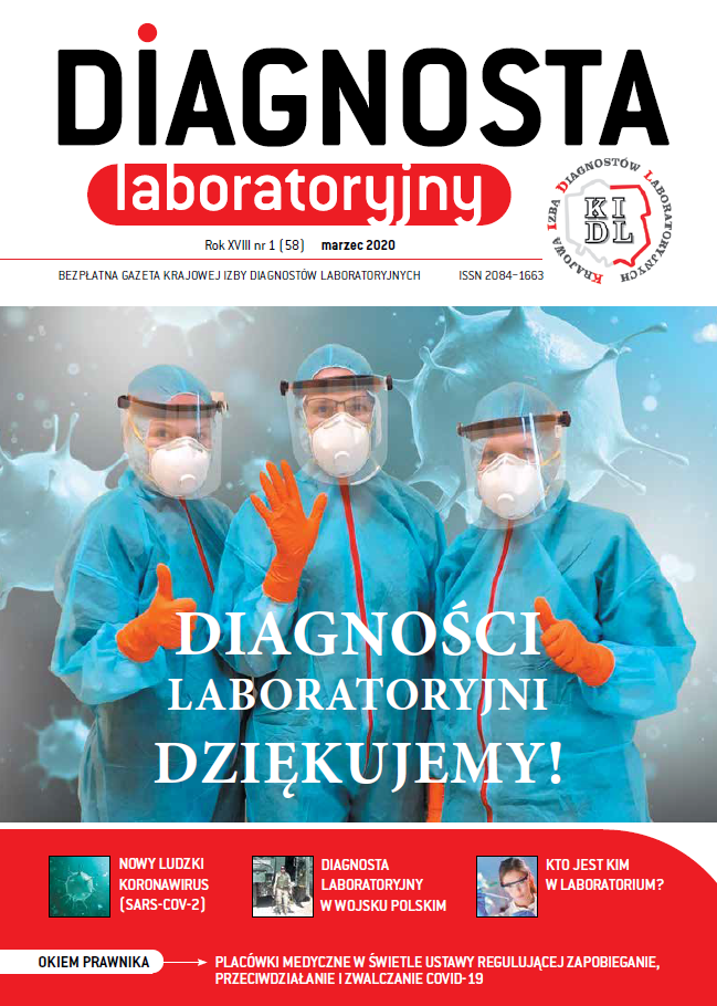 Diagnosta Laboratoryjny - Rok XVII, numer 1 (58), marzec 2020