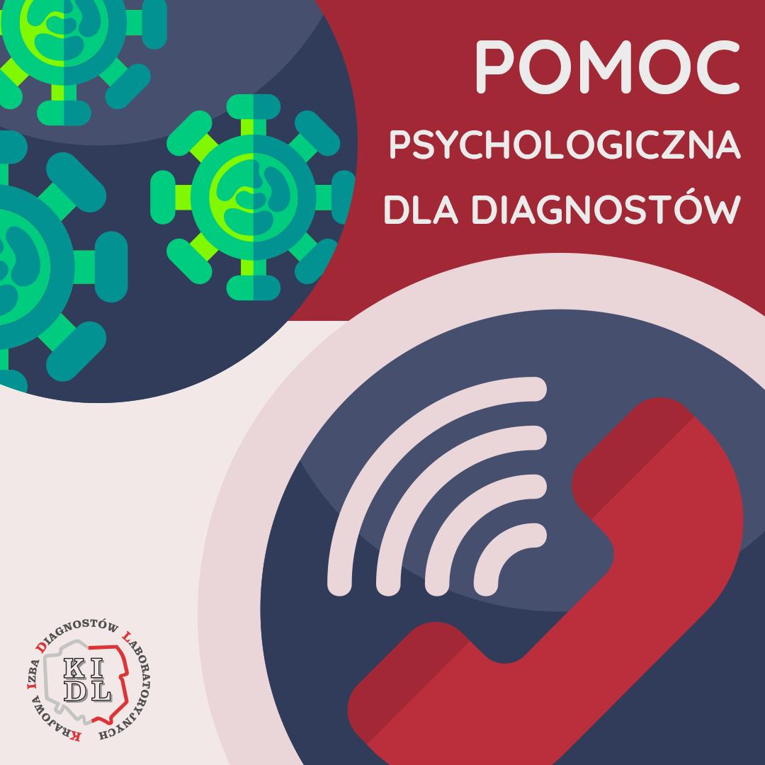 Krajowa Izba Diagnostów Laboratoryjnych informuje o wsparciu psychologicznym dla diagnostów laboratoryjnych.
