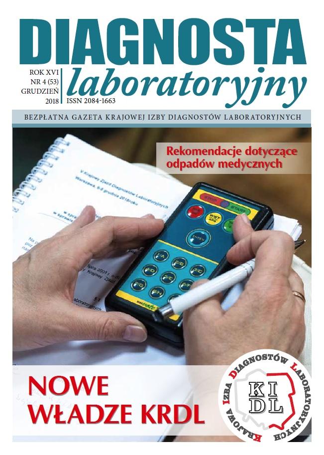 Diagnosta Laboratoryjny - Rok XV, numer 4 (53), grudzień 2018