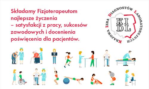 8 września obchodzimy Światowy Dzień Fizjoterapii, który został ustanowiony w 1996 roku przez Światową Konfederację Fizjoterapii (WCPT). Z tej okazji składamy Fizjoterapeutom najlepsze życzenia.