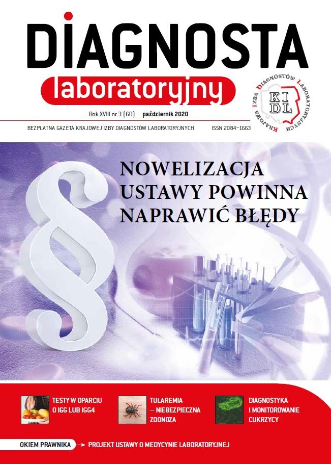 Diagnosta Laboratoryjny - Rok XVIII, numer 3 (60), październik 2020