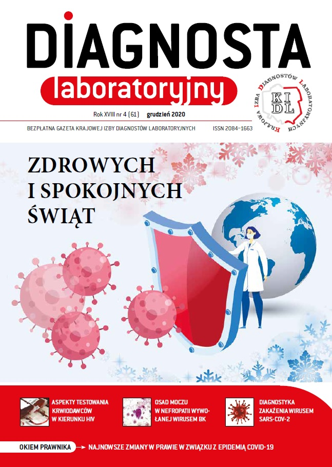Diagnosta Laboratoryjny - Rok XVIII, numer 4 (61), grudzień 2020
