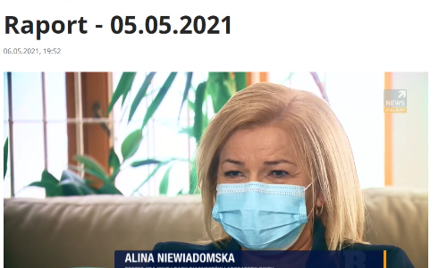 """W programie """"Raport"""" w Polsat News prezes KRDL Alina Niewiadomska mówiła o zasadności oznaczania przeciwciał, jednocześnie odradzała kupowanie testów w dyskontach czy internecie."""