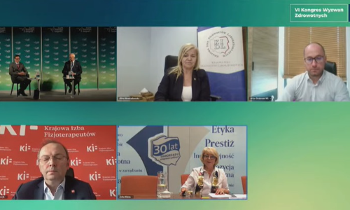 """Prezes Alina Niewiadomska uczestniczyła w Kongresie Wyzwań Zdrowotnych. Wzięła udział w 2 panelach: """"Kadry w ochronie zdrowia"""" i """"Wynagrodzenia w ochronie zdrowia""""."""