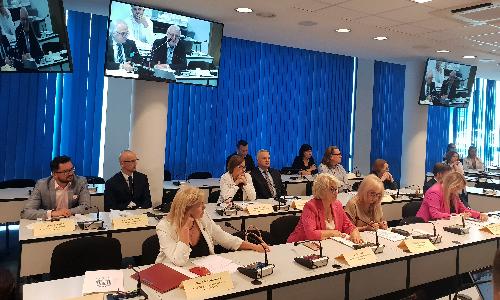 W siedzibie Naczelnej Izby Lekarskiej odbyła się debata na temat Polskiego Ładu, w której uczestniczyli przedstawiciele samorządów zawodów zaufania publicznego w tym prezes Krajowej Rady Diagnostów Laboratoryjnych Alina Niewiadomska.