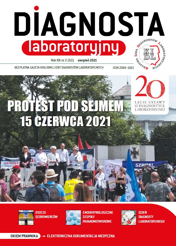 Diagnosta Laboratoryjny - Rok XIX, numer 2 (63), sierpień 2021