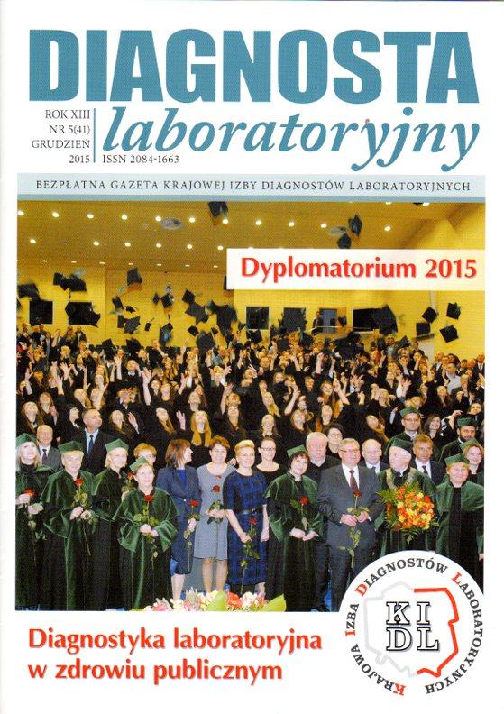 Diagnosta Laboratoryjny - Rok XIII, numer 5 (41), grudzień 2015