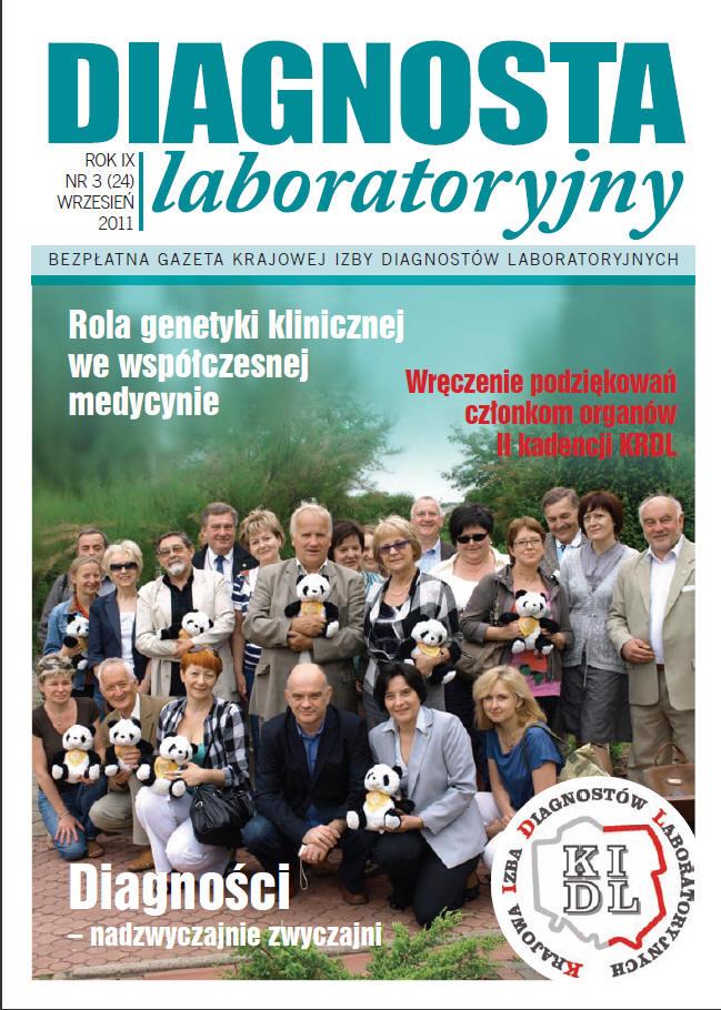 Diagnosta Laboratoryjny - Rok 9, Numer 3 (24) - wrzesień  2011 r.